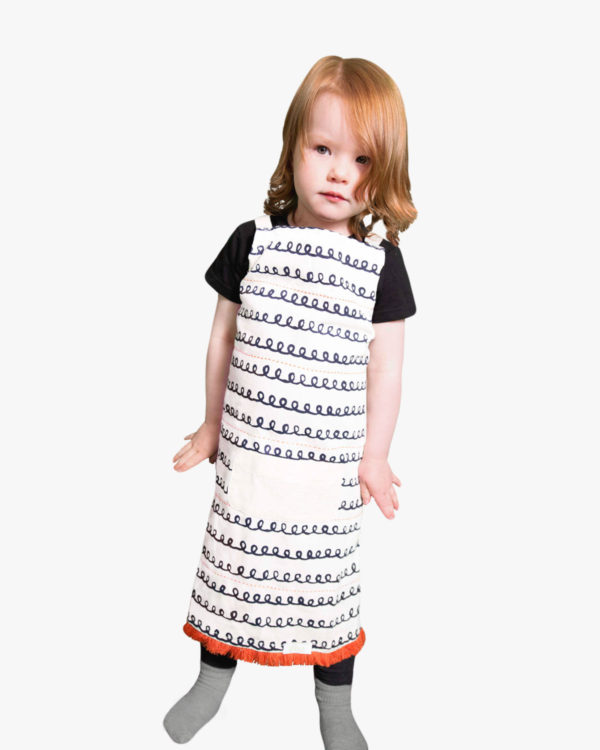 Tangerine-Organic-Cotton-Apron-Child-Pockets-Ties-Front