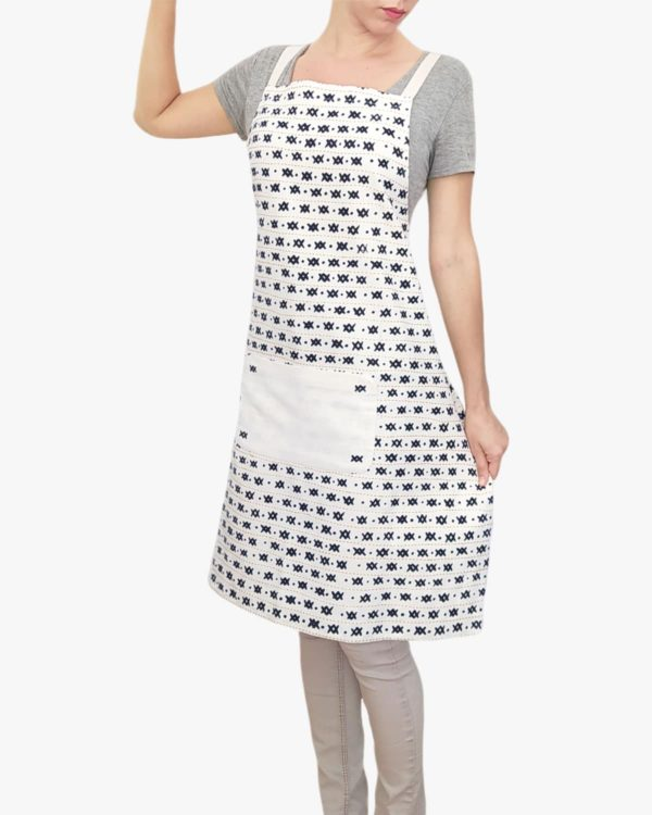 Yuzu-Organic-Cotton-Apron-Pockets-Ties-Front-A